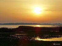 Zonsondergang Vogelkijkhut Jaap Deensgat Lauwersmeer