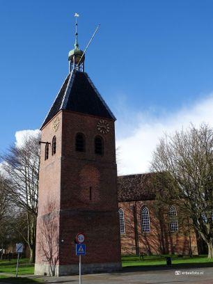 Kerk met vrijstaande toren in Beerta, Groningen