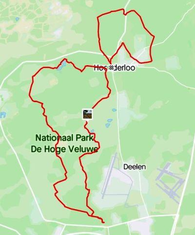 Fietsroute Nationaal Park De Hoge Veluwe