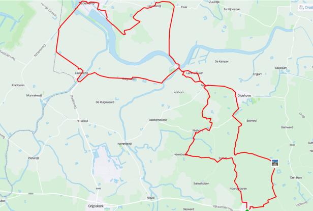 Route 20210814 Zoutkamp