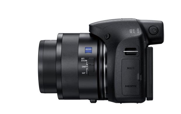 Sony Cybershot DSC-H350 (zijkant)