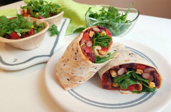 burrito cu fasole rosie