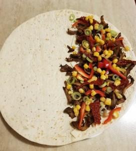 quesadilla umpluta cu legume
