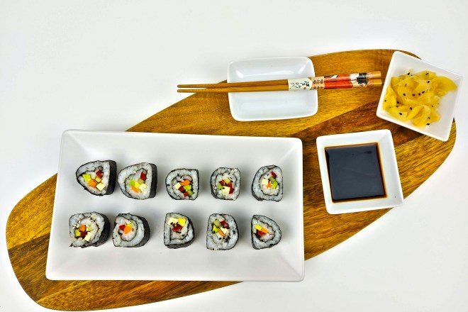 maki sushi vegan