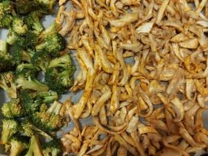 broccoli si pleurotus la cuptor