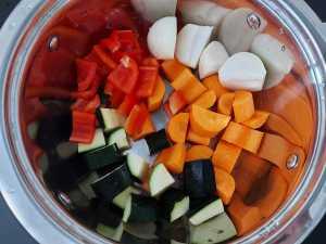 legume taiate cuburi