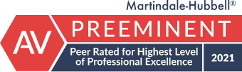 Martindale-Hubbell Preeminent Peer Rated for Highest Level of Professional Excellence 2021