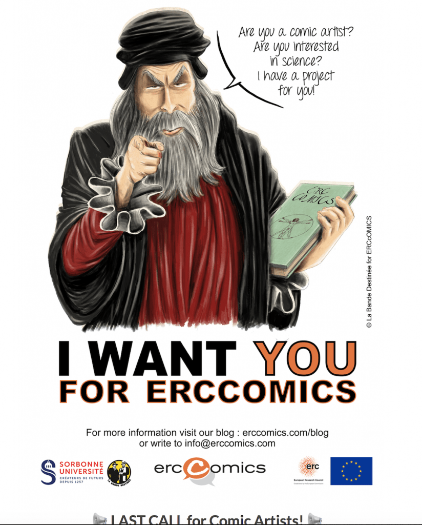 ERCcOMICS call for artists