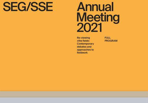 SEG/SSE Annual Meeting 2021