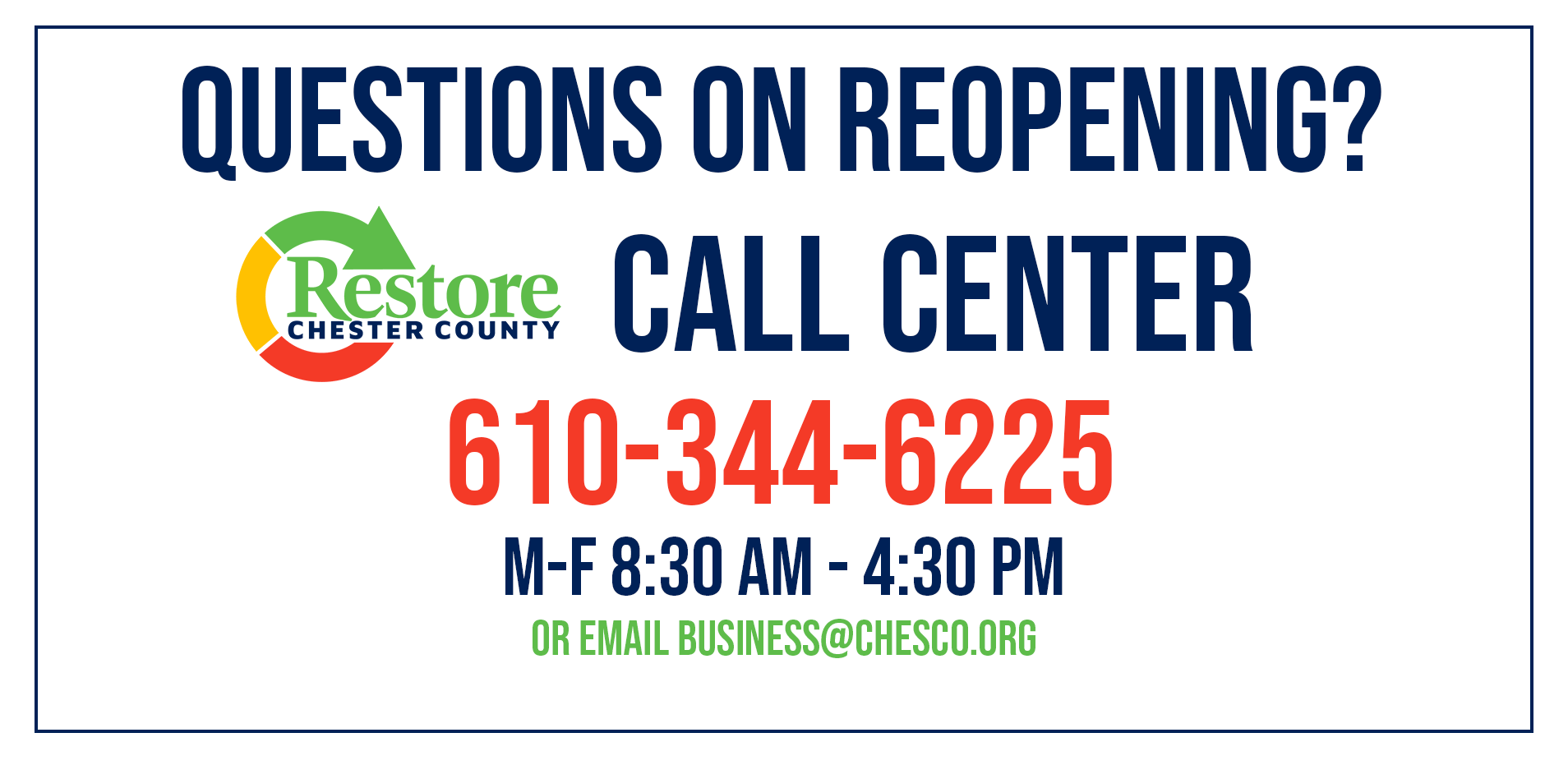 Restore Chester County Call Center