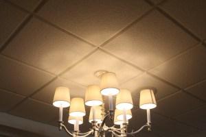 tegular reveal edge ceiling panels on 15/16 grid