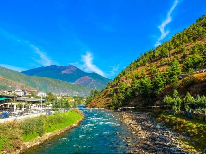 Wangchu River Thimphu