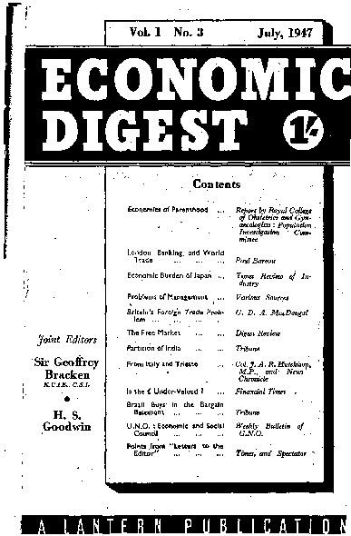 Economic Digest July 1947