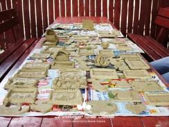 Kézműves foglalkozás Agyagozás elkészült művek Erdei iskola