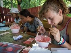 Kézműves foglalkozás Buborékfestés Erdei iskola