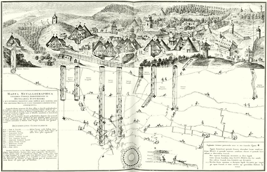 Schemnitz_in_Danubius_Pannonico-Mysicus_1726_by_Marsigli