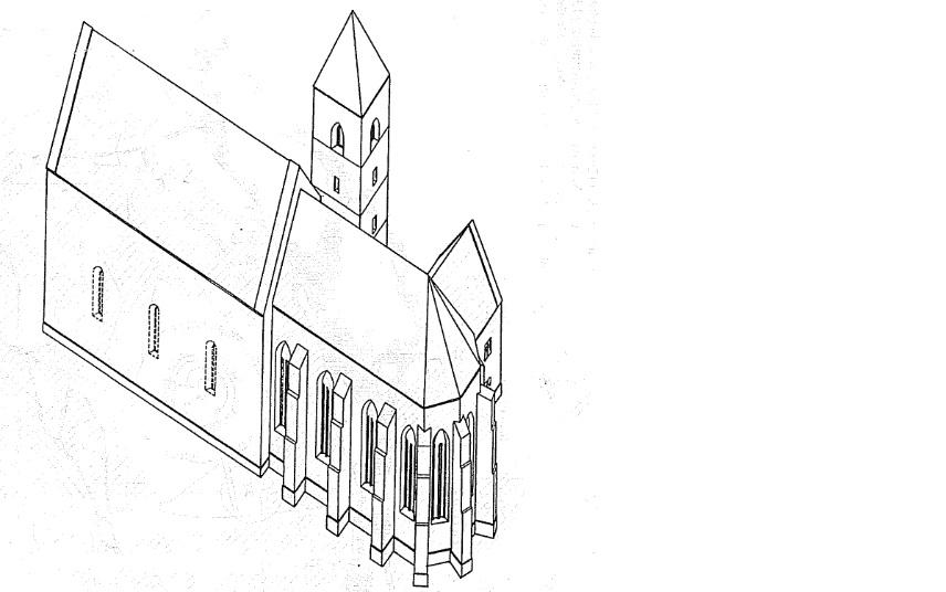 A várad-velencei konventuális ferences kolostor elméleti rekonstrukciója (Emődi Tamás munkája)