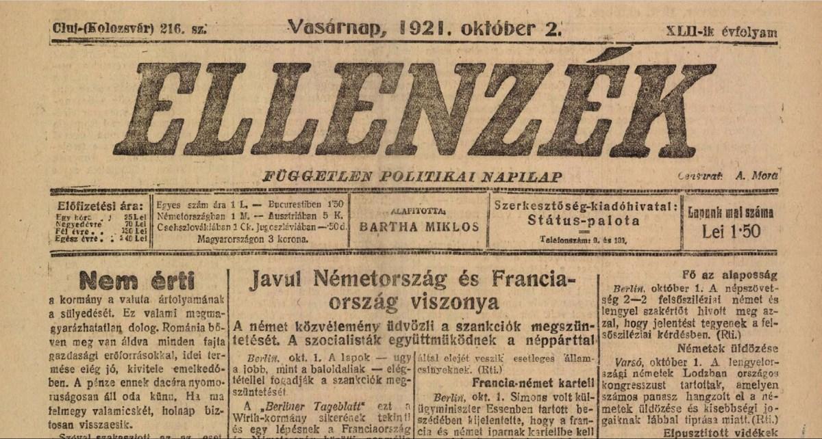 Az erdélyi sajtópiac átalakítása 1940 őszén
