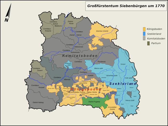 Erdélyi Nagyfejedelemség a 18. században (corbiialbi.ro)