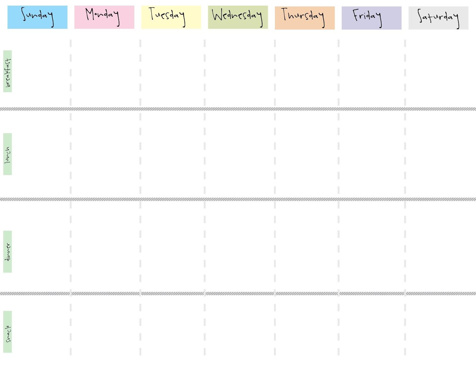 Printable Weekly Calendar With 15 Minute Time Slots ...