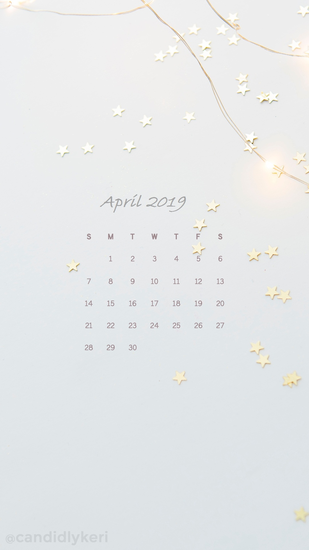 April Iphone Calendar Wallpaper