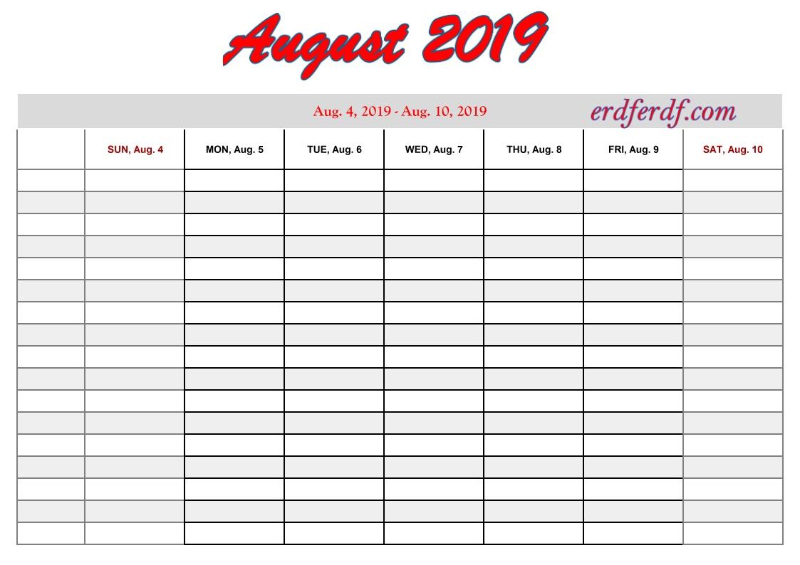 Printable 2019 Calendar By Week | Calendar Template Printable