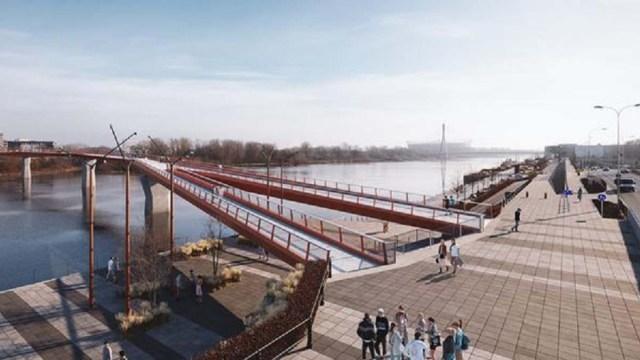 В Варшаве появится самый длинный пешеходный мост в мире