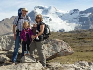Wilson family at Wilcox Pass