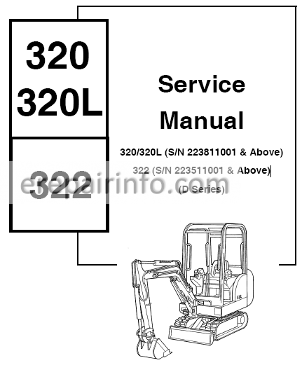 Bobcat 320, 320L, 322 Service Repair Manual Hydraulic