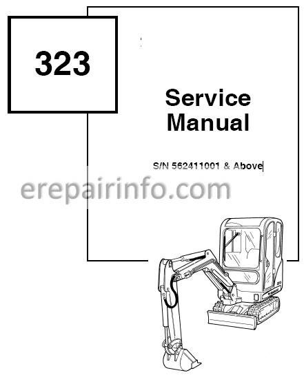 Bobcat 323 Service Repair Manual Hydaulic Excavator 6903380 11-06