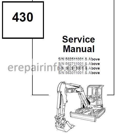 Bobcat 430 Service Repair Manual Excavator 6902318 10-09