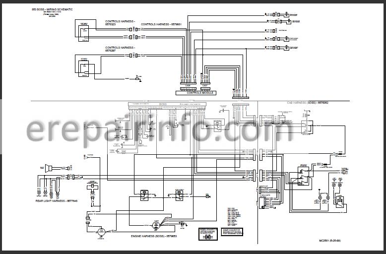Bobcat 853 853H Service Repair Manual Skid Steer Loader