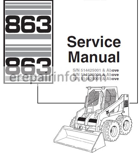 bobcat 863 hydraulic pump diagram bobcat 863 service repair manual skid steer loader 6900648 7 10  repair manual skid steer loader
