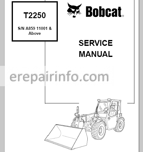 Bobcat T2250 Service Manual Telescopic Handler 6986740 7