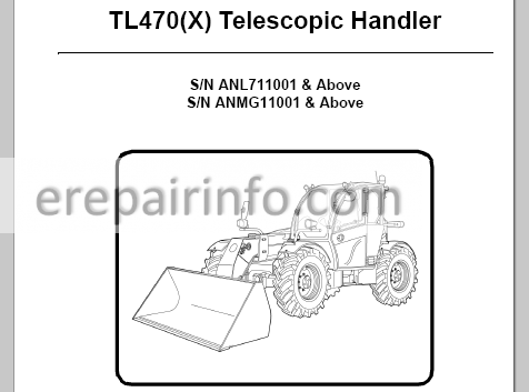 Bobcat TL470(X) Service Manual Telescopic Handler 6990103