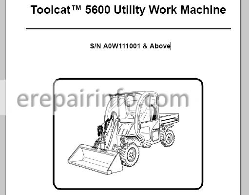 Bobcat 873 883 Service Repair Manual Skid Steer Loader