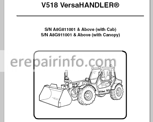 Bobcat V518 Service Manual VersaHANDLER 6986676 4-10