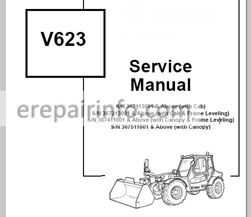 Bobcat V623 Service Manual VersaHANDLER 6902407 3-06