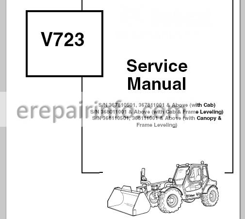 Bobcat V723 Service Manual VersaHANDLER 6902760 1-07