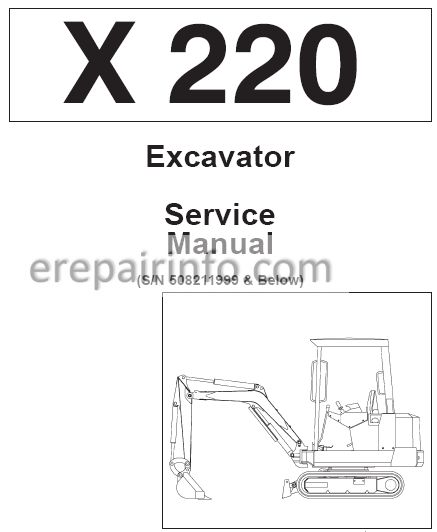 Bobcat X 220 Service Repair Manual Excavator 6720230 5-89
