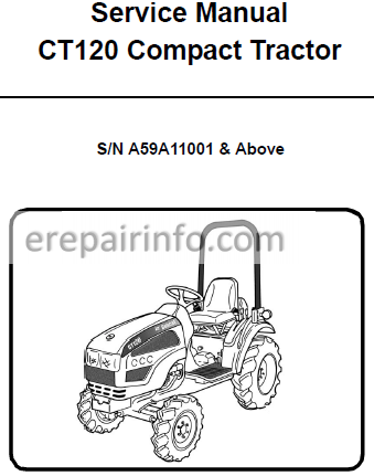 Bobcat CT120 Service Manual Compact Tractor 6986523 9-10