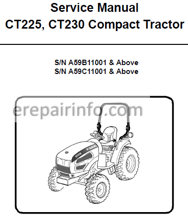 Bobcat CT225 CT230 Service Repair Manual Compact Tractor 6986526 5-11