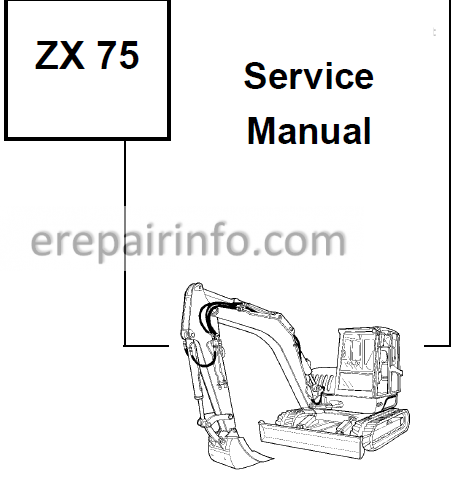 Bobcat Ingersoll Rand ZX75 Service Repair Manual Hydraulic