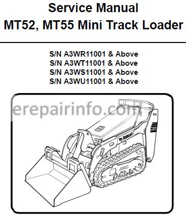 Bobcat MT52 MT55 Service Repair Manual Mini Track Loader 6986859 3-11