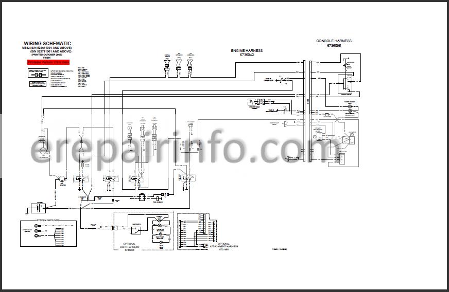 Bobcat MT52 Service Repair Manual Mini Track Loader
