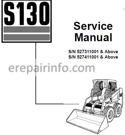 Bobcat S130 Service Manual Skid Steer Loader 6903151 2-06