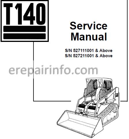 Bobcat T140 Service Repair Manual Compact Track Loader