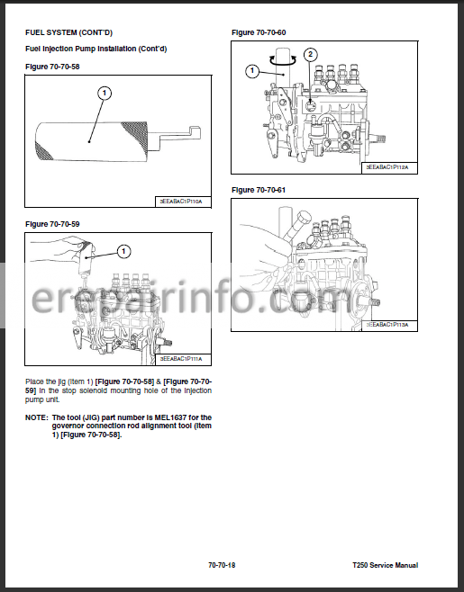 Bobcat T250 Service Repair Manual Compact Track Loader