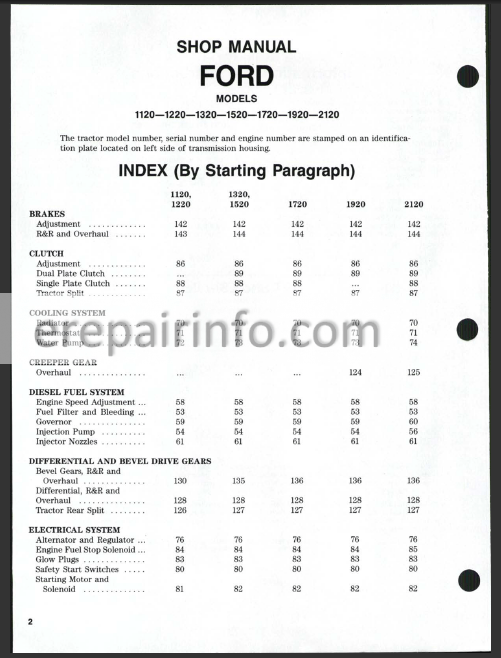 ford 1720 wiring diagram ford new holland 1120 1220 1320 1520 1720 1920 2120 shop manual  1120 1220 1320 1520 1720 1920 2120