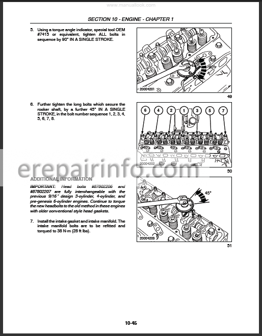 Ford New Holland 8670A 8770A 8870A 8970A Repair Manual New Holland Tractor Wiring Diagram on